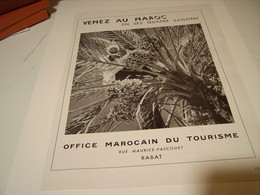ANCIENNE PUBLICITE OFFICE MAROCAIN  1954 - Publicité