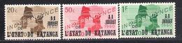 Katanga 1960  Sc Nr 40/42  MNH (a1p28) - Katanga