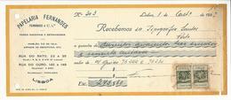 Receipt * Portugal * 1937 * Lisboa * Papelaria Fernandes * Holed - Portugal