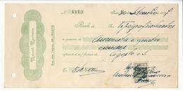 Receipt * Portugal * 1937 * Porto * Manoel Macieira * Holed - Portugal