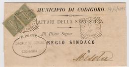 1895 Piego Da CODIGORO Per MESOLA Con Coppia VEII 1 Cent  021 - 1900-44 Vittorio Emanuele III