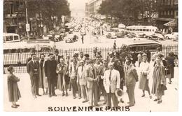 POSTAL   FOTOGRAFIA RECUERDO DE PARIS AÑO 1954 - Fotografía