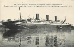 PAQUEBOT ILE DE FRANCE - - Compagnie Générale Transatlantique - Dampfer