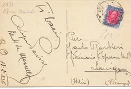 1931 Cartolina Da Africa Orientale Per LONIGO  021 - 1900-44 Vittorio Emanuele III