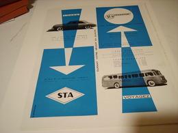 ANCIENNE PUBLICITE LOUEZ VOYAGEZ AVEC STA ET TRANSCAR  1955 - Advertising