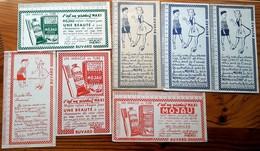 7 Buvard 1951  - 5 Différents MAXI MOYAU à SAINT OUEN (Seine)  ADIN - MAXILINE  Avec Illustration Et Double Décimètre - Shoes