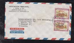 Honduras 1964 Airmail Cover TEGUCIGALPA To MUNICH Germany 2x 20c Oficial Overprint Stamps - Honduras