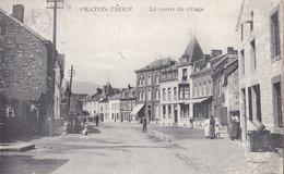 BE17-  PRAYON  TROOZ   EN BELGIQUE   LE CENTRE DU VILLAGE   CPA  CIRCULEE - Trooz