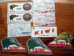 7 Buvards Différents + 1 Double CIRAGE KIWI Fabrication S.R.C. Exclusivité P.P.Z. (bien étudier Les Variantes) - Zapatos