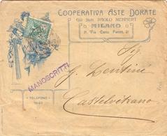 Lerrera - Manoscritti Da Milano Per Castelvetrano Con Stemma Savoia 5c 021 - 1900-44 Vittorio Emanuele III