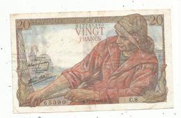 Billet , Vingt Francs , 20 , PÊCHEUR , 12-2-1942 ,   2 Scans - 1871-1952 Anciens Francs Circulés Au XXème
