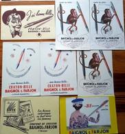 4 Buvards Différents + 4 Doubles -  STYLOS BAIGNOL & FARJON - Illustr.ANDRE FRANCOIS - Tatoué,tatouages Anges Cupidon - Papeterie