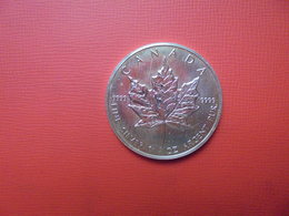 "CANADA 5 $ 1989 ARGENT PUR(1 OUNCE)  ""ERABLE"" - Canada"