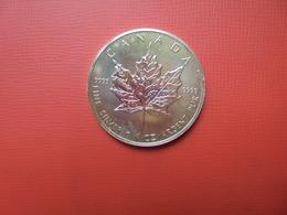 "CANADA 5 $ 1990 ARGENT PUR(1 OUNCE)  ""ERABLE"" - Canada"
