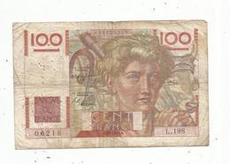 Billet ,  Cent Francs , 100 , JEUNE PAYSAN , 3-4-1947 ,   2 Scans - 1871-1952 Anciens Francs Circulés Au XXème