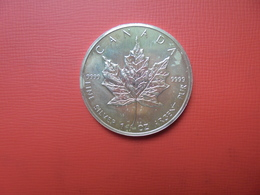 "CANADA 5 $ 1991 ARGENT PUR(1 OUNCE)  ""ERABLE"" - Canada"