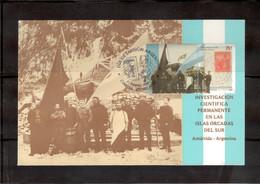 CHble - ARGENTINE Timbre Du BF 82-1er Jour 21.2.2004 -Carte Du Centenaire Base Orcadas Antartida Argentina. - Lettres & Documents