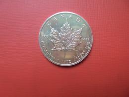 "CANADA 5 $ 1992 ARGENT PUR(1 OUNCE)  ""ERABLE"" - Canada"