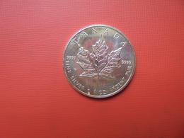 "CANADA 5 $ 1993 ARGENT PUR(1 OUNCE)  ""ERABLE"" - Canada"