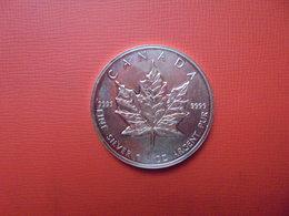 "CANADA 5 $ 1995 ARGENT PUR(1 OUNCE)  ""ERABLE"" - Canada"