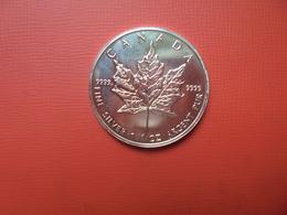 "CANADA 5 $ 1996 ARGENT PUR(1 OUNCE)  ""ERABLE"" - Canada"