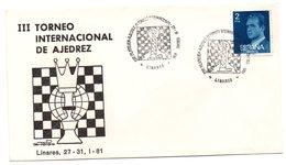 Carta Con Matasellos Commemorativo III Torneo Internacional De Ajedrez. Linares. - 1931-Hoy: 2ª República - ... Juan Carlos I