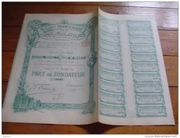 """Part Fondateur"""" Cie Generale Franco-russe D'accumulateurs"""" Bruxelles 1898 Très Bon état,tous Les Coupons - Russie"""