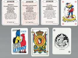 Joker Lot De 7 Cartes à Jouer Représentant Des Jokers (Lotto, Mas Reynals Naipes Barcelone, Le Tiercé, Etc.) - Cartes à Jouer Classiques