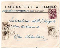 Carta Con Matasellos Santander Publicidad Laboratorios Altamira. - 1931-Today: 2nd Rep - ... Juan Carlos I