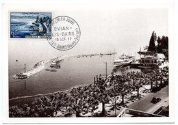 CARTE MAXIMUM FRANCE 1957 / 74 EVIAN LES BAINS  = CACHET FDC PREMIER JOUR N° 1131 - Maximumkarten