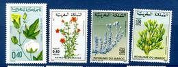 - Etat : **  Maroc  4 Timbres  Fleurs  YT 531,880,1031,103    Cl Animaux 283 - Autres