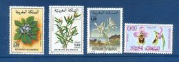 - Etat : **  Maroc  4 Timbres  Fleurs  YT     Cl Animaux 288 - Autres