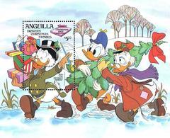 MWD-090007 MINT PF/MNH ¤ ANGUILLA 1983 BLOCK  ¤ THE WORLD OF WALT DISNEY -- FRIENDS OF WALT DISNEY - Disney