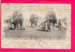 Cpa Carte Postale Ancienne  - CAMPEMENT AU DESERT DE LA CARAVANE DU CAID BEN GANAH - Tunisia
