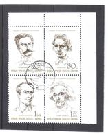 OST1315 ALBANIEN 1989  MICHL 2398/01 Gestempelter VIERERBLOCK SIEHE ABBILDUNG - Albanien