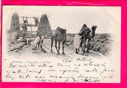 Cpa Carte Postale Ancienne  - Tunisie Puits Arabe - Tunisia