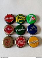 9 Chapas,capsules Du Portugal - Soda