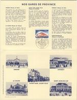 France Rep. Française 1980 Encartage - Gares De Province / Railway Station / Bahnhof / Treinstation - Trains