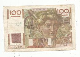 Billet ,  Cent Francs , 100 , JEUNE PAYSAN,   15-4-1948  , 2 Scans - 1871-1952 Anciens Francs Circulés Au XXème