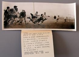 Rugby  Match P.U.C-Grenoble à Charlety En 1951 Photo Presse 90x240 - Sports