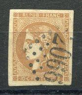 RC 9100 FRANCE N° 43B R2 - BORDEAUX 10c BISTRE BRUN COTE 150€ TB - 1870 Bordeaux Printing