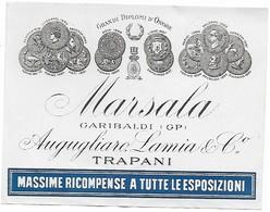 MARSALA - ETICHETTA MARSALA - GARIBALDI (GP) - AUGUGLIARO LAMIA & Co - TRAPANI - Etichette