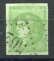 RC 9101 FRANCE N° 42B - BORDEAUX 5c VERT JAUNE COTE 200€ TB - 1870 Bordeaux Printing