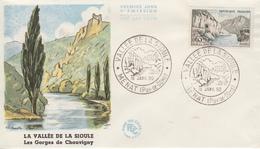 Enveloppe  FDC  1er  Jour  FRANCE   Vallée  De  La  Sioule  MENAT   1960 - 1960-1969