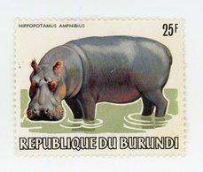 Burundi 1983-Hypopotame Nr 856 De La Série Dégommé - 1980-89: Oblitérés
