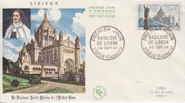 Enveloppe  FDC  1er   Jour    FRANCE   Basilique  De   LISIEUX    1960 - 1960-1969