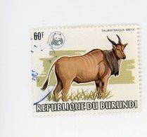 Burundi 1983-WWF-ORYX-timbre Nr 872-Oblitéré - 1980-89: Oblitérés