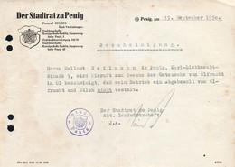 B4579 - Penig - Stadtrat Stempel - 1950 - Germany