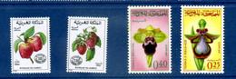 - Etat : **  Maroc  4 Timbres  Fruits  YT 69,70,+ 2 Autres    Cl Animaux 290 - Fruits