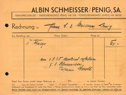 B4583 - Penig - Albin Schmeisser - Rechnung 1938 - Sparkasse Bank Giro - Germany
